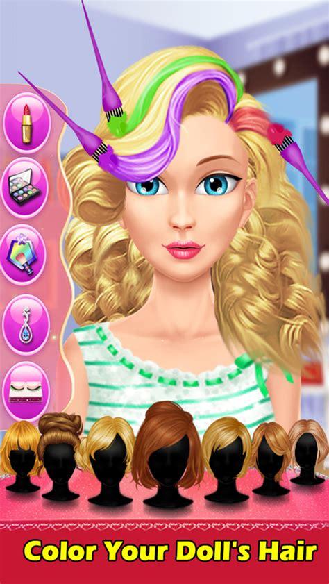 design hair game app shopper cute doll hair salon wash dry design