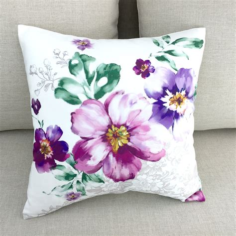 Floral Decorative Pillows Decorative Throw Pillows Pillow Covers Floral By Homedecoryi