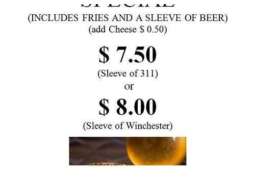 burger and pint deals