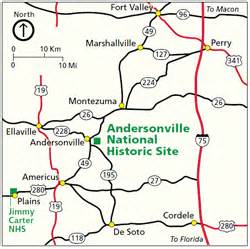 andersonville map directions andersonville national historic site u s