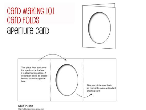 how to make an aperture card card for beginners card folds