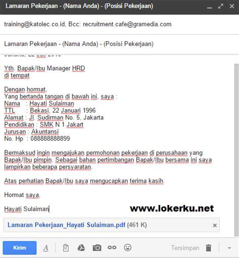 contoh surat lamaran kerja via email beserta lirannya contoh surat lamaran kerja via email secara resmi yang