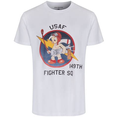 Fighter Shirt alpha industries x present t shirt with 149th us fighter squadron print in white