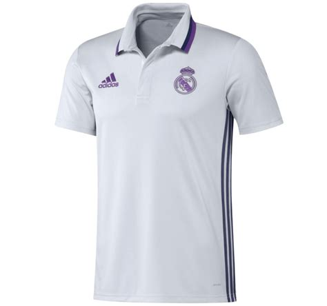 Polo Shirt Adidas White 2016 2017 real madrid adidas polo shirt white ao3070 uksoccershop