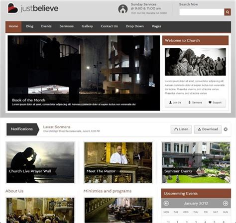 templates for ngo websites 25 inspiring church website templates