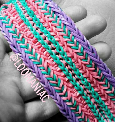 how to make loom bands with diy scale cuff loom bracelet free guide