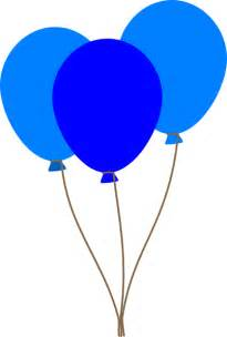 Clipart Of Balloons 3 blue balloons clip at clker vector clip royalty free domain