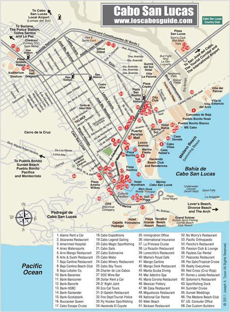 map of cabo san lucas cabo san lucas map mexico