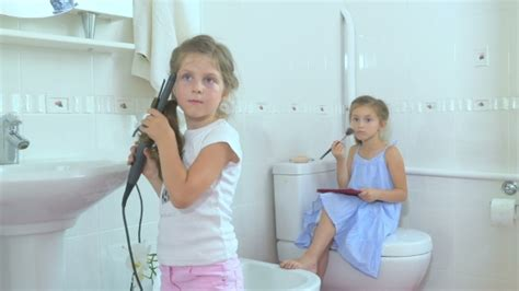 girls doing in bathroom little girls doing the beauty in the bathroom by hightfilm