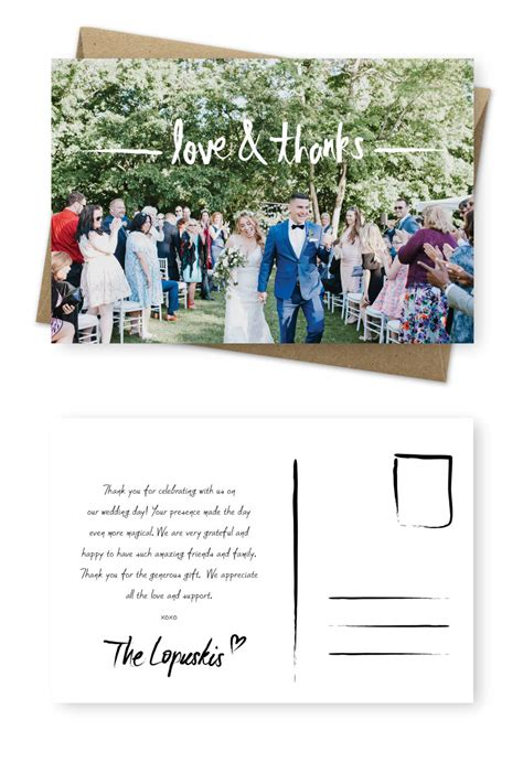 9 wording exles for your wedding thank you cards for the of stationery