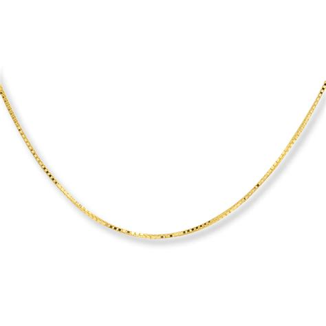jared box chain necklace 10k yellow gold 18 quot length