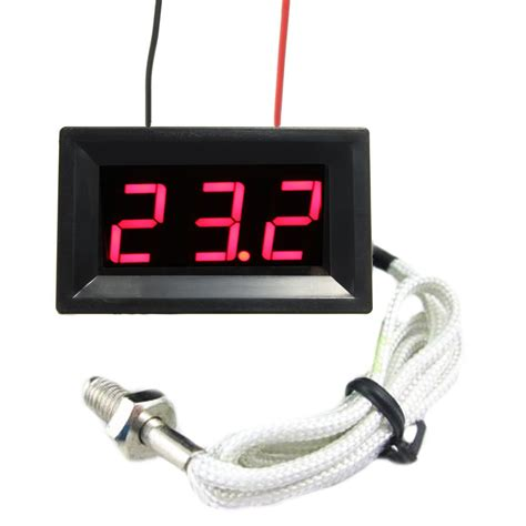 Led Digital led dc12v digital thermocouple thermometer temperature