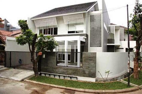 desain rumah hook sudut minimalis   lantai modern