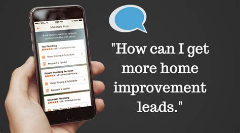 how do i get more home improvement leads digital