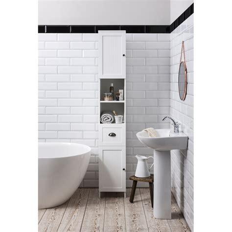 black bathroom tallboy stow tallboy bathroom cabinet hallway storage unit noa