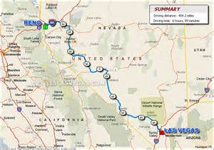 Map To Las Vegas by Vegas Reno Biography