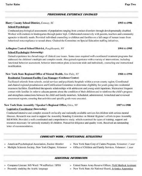 Example Resume: Sample Resume College Professor Position