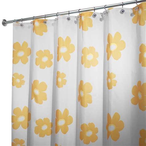 yellow bathroom curtains interdesign poppy shower curtain yellow design waterproof