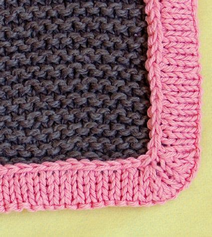 edging for knitted blanket how to add a knitted border to a baby blanket up
