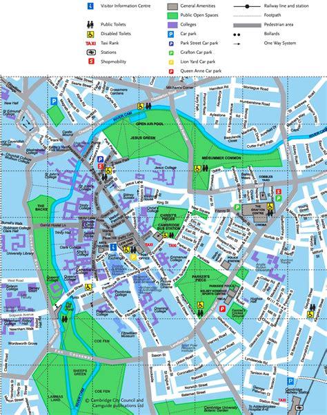 map uk cambridge cambridge tourist map