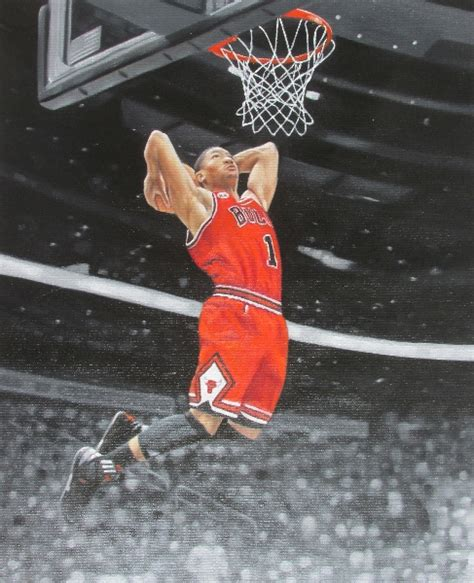 latest painting derrick rose   oil painting
