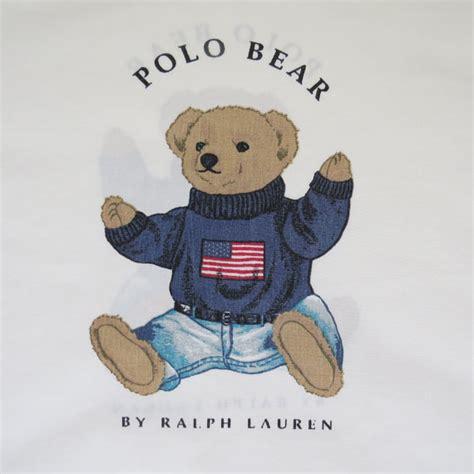 Ralph Lauren Home Decor Fabric vintage ralph lauren preppy patriotic polo bear pillow case