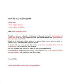 Press Release Warning Letter Warning Letter For Employee Template Docoments Ojazlink