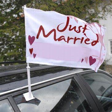 Just Married Fahnen F Rs Auto by September 2014 Autoschmuck Hochzeit