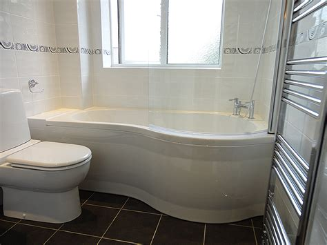 Small Corner Bath With Shower Screen fitted bathroom project studley photos of a completed