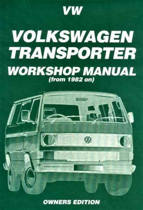 online car repair manuals free 1989 volkswagen type 2 auto manual volkswagen vw transporter t3 petrol 1982 1989 service repair manual brooklands books ltd uk