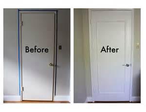 door makeover door frame quarter round door frame