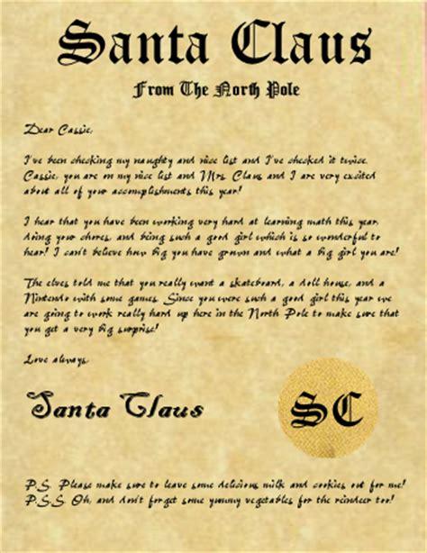 free printable santa claus letters north pole free santa letters from north pole search results