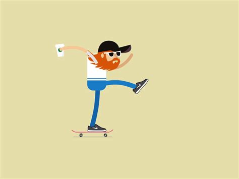 mover imagenes latex hipster skater characters cartoon and animation