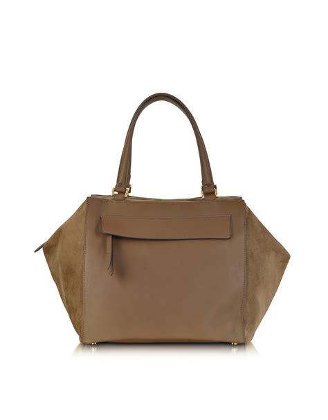 Fendi Bags by Lyst Fendi Large Beige Boston Bag In Brown