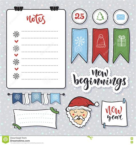 Snowflake Sticky Note L doodle note paper vector set messages sticky notes notes