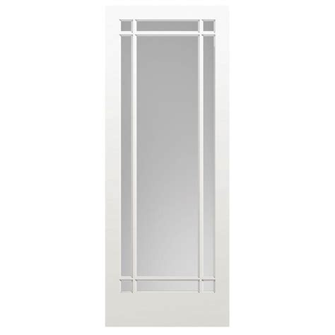 Masonite 40 In X 84 In Prairie Primed 9 Lite Solid Wood Light Interior Door