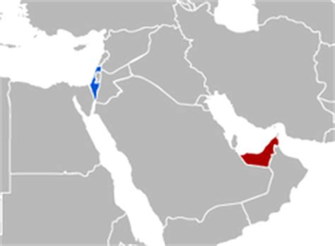 united arab emirates map israel united arab emirates relations