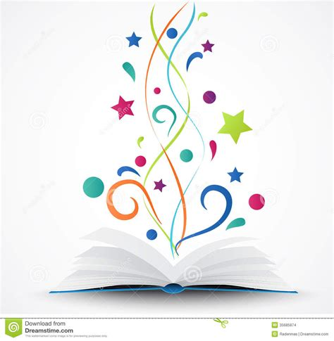libro color design workbook a book opened abstract with colorful star and wave stock images image 35685874