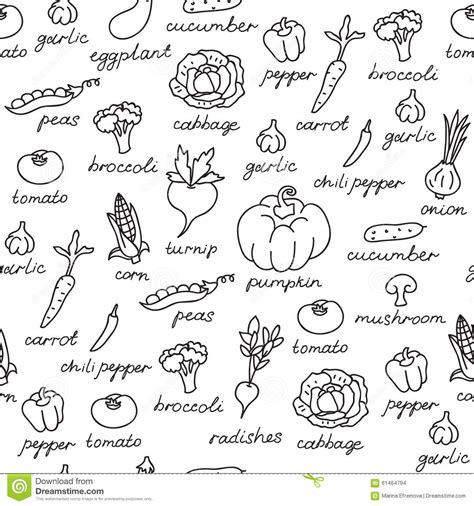 vegetable doodle vector free vector pattern of seamless background with vegetables