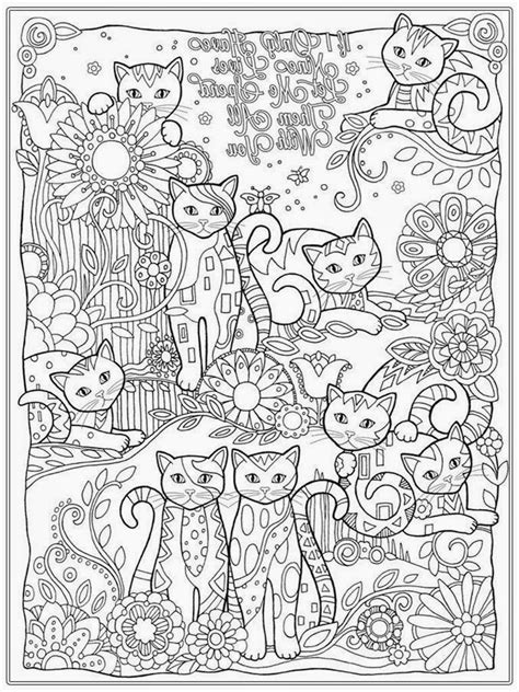 free cute cat girls coloring pages