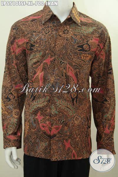 Batik Hem Ikan hem batik premium lengan panjang motif ikan pakaian batik furing halus proses tulis soga