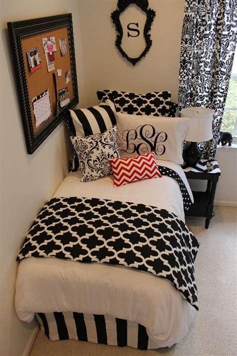 red black and white teenage bedroom black and red designer bed in a bag sets for dorm