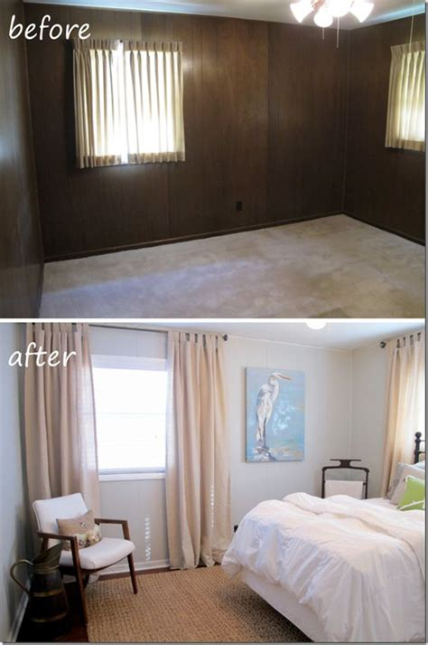 painted wood paneling before after b b painting paneling before and after photos pinterest the