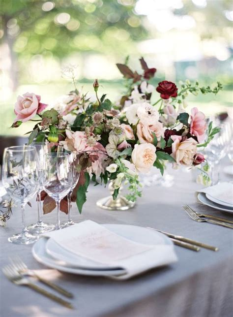 burgundy wedding table centerpieces 28 refined burgundy and blush wedding ideas weddingomania