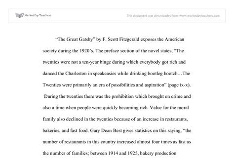 Great Gatsby Green Light Essay by Quot The Great Gatsby Quot By F Fitzgerald Exposes The American Society During The 1920 S
