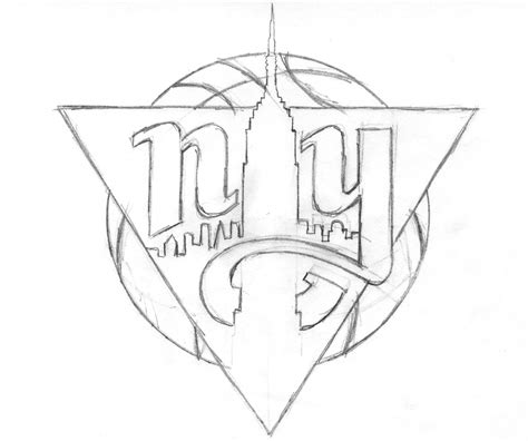 knicks basketball coloring pages how to draw knicks logo