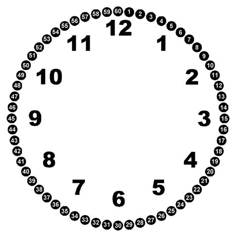 Collection of Template For Clock With Moveable Hour And Minute Hand ...