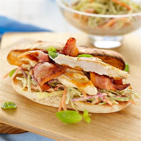 Gourmet Burger Kitchen Coleslaw Recipe by Chicken Bacon Burger With Avocado Slaw Recipe