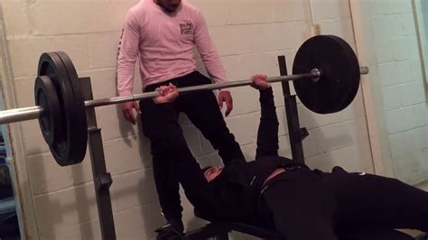 275 pound bench press 275 lb bench press fail youtube