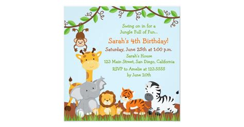 17 safari birthday invitations design templates free